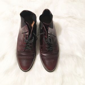 Ariat Shoes - Ariat maroon heeled ankle boots pointed toe 8 m